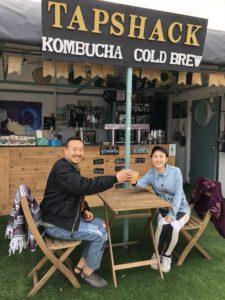Customers Enjoying Their Kombucha