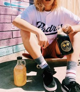 Skater Chilling Out With His Growler